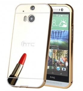 Etui Mirror Case HTC M8 Złoty