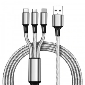 Kabel USB  3w1 - 100 cm, 2.1A Fast Charging