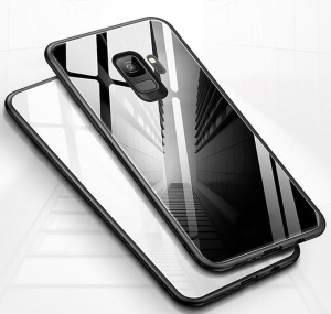 Etui Pure Glass Samsung Galaxy A6+ Plus 2018